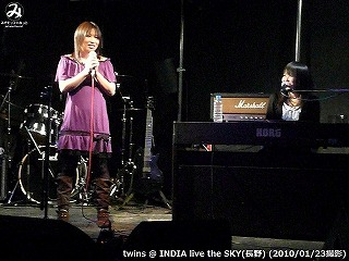 twins【Part.1】@ INDIA live the SKY (2010/01/23)