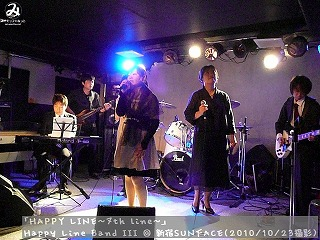 Happy Line Band III【Part.1】@ 新宿SUNFACE (2010/10/23)